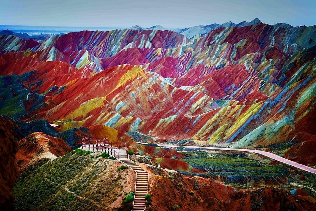 Скалы Чжанъе Данксиа, Китай