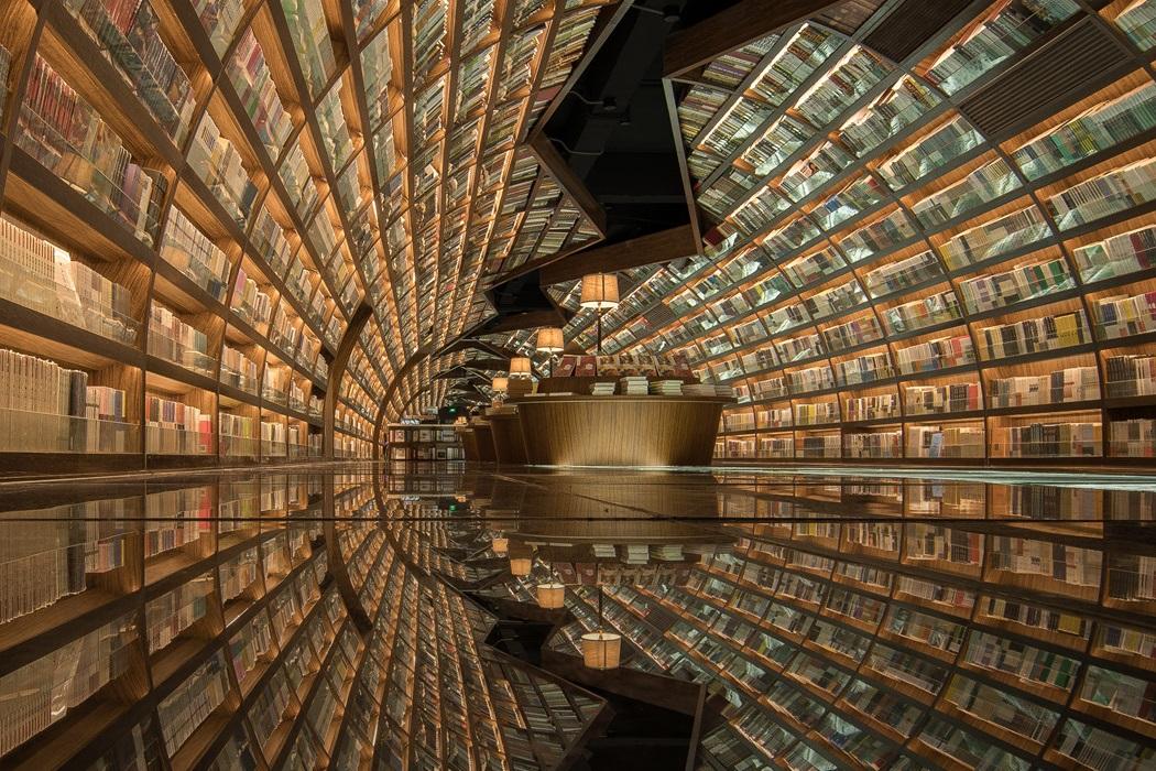 Футуристическая библиотека в Янчжоу, Китай