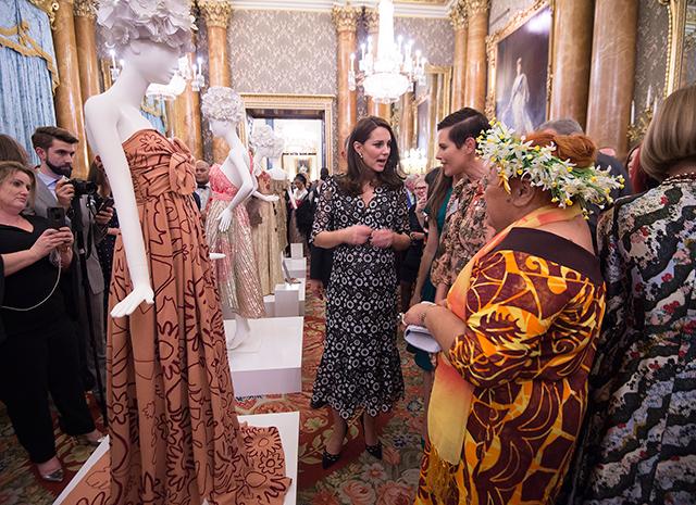 Прием во дворце на Лондонской неделе моды