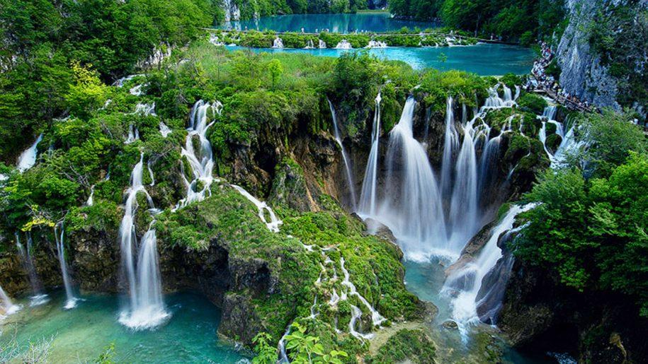 Национальный парк Плитвицкие озера, Хорватия, Каскадный водопад