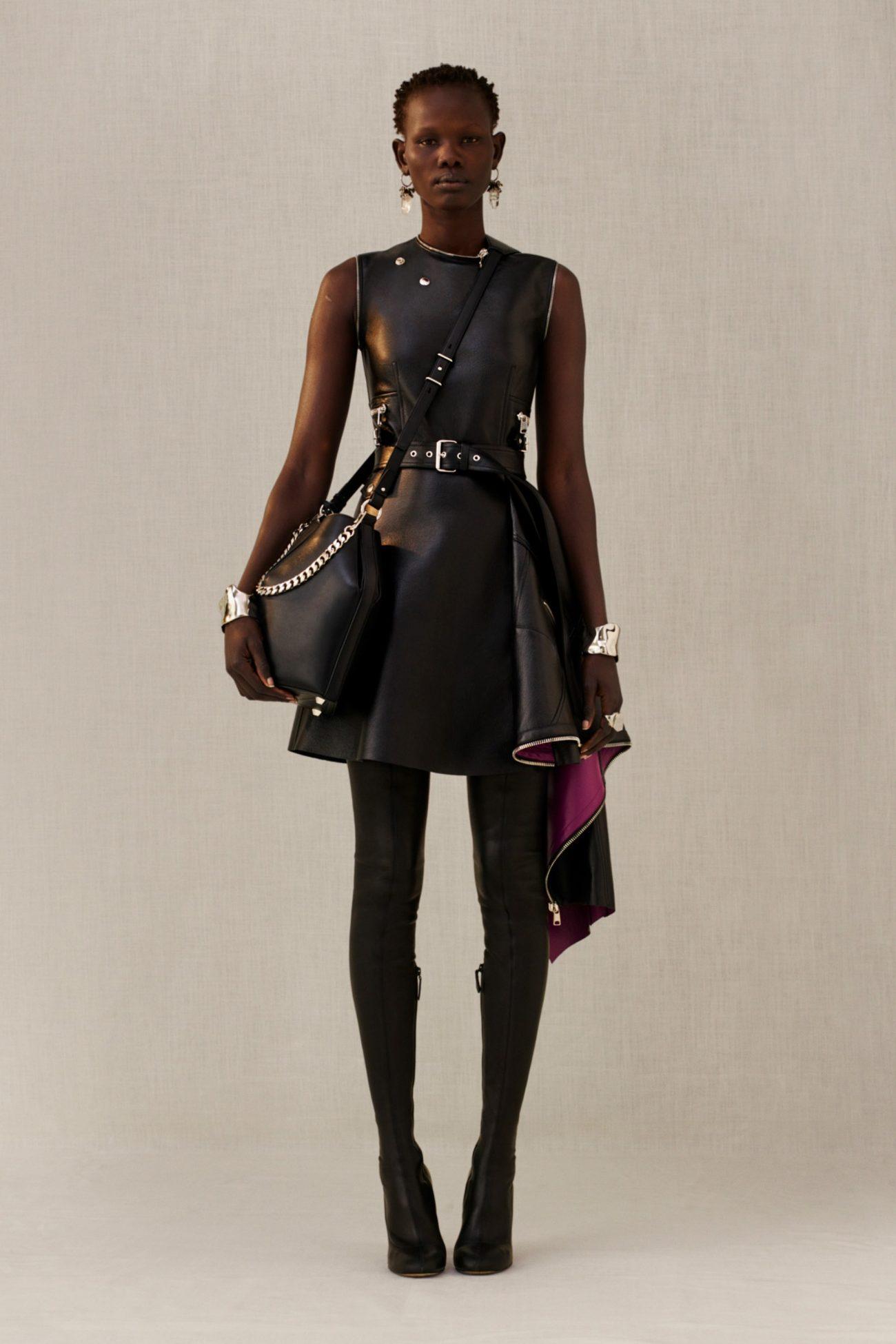 кожаное платье, McQueen
