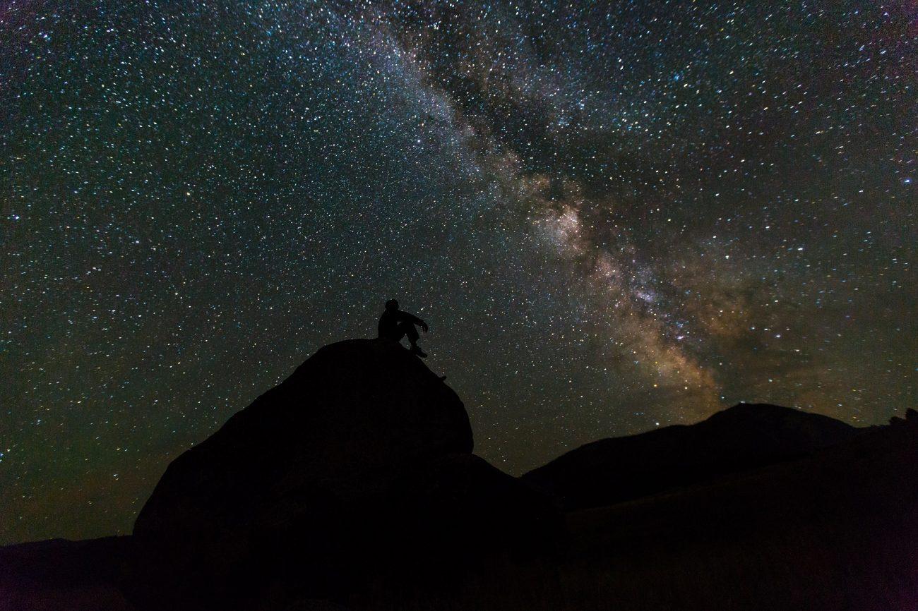 вид на звездное небо