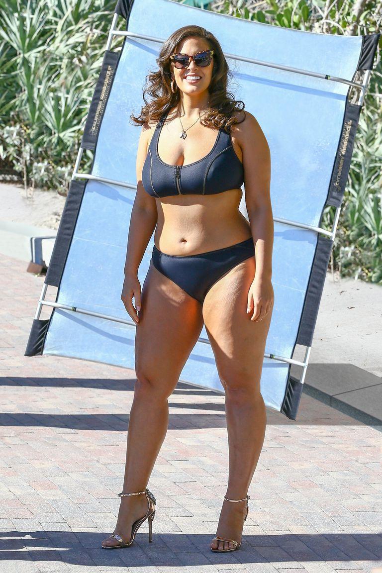 Эшли Грэм без фотошопа