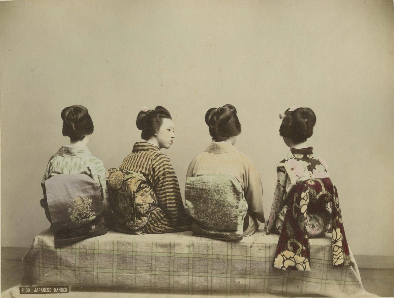 Старинная японская фотография и гравюра