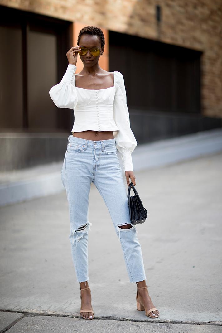 джинсы street style