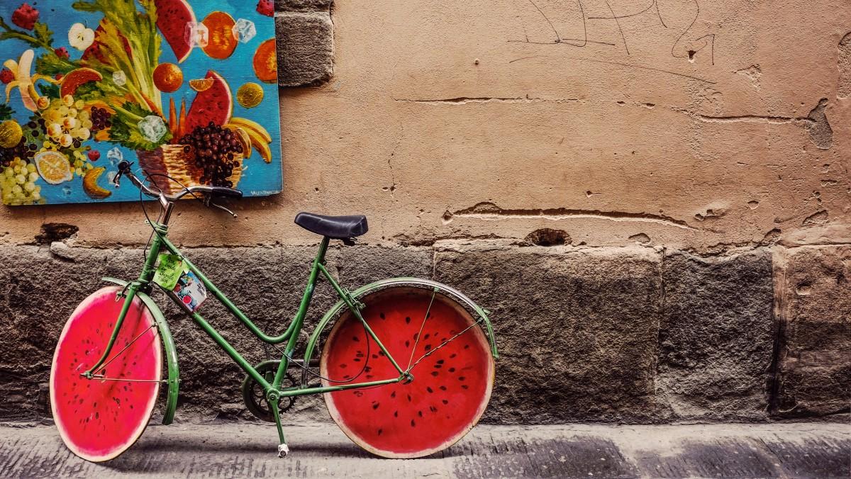 велосипед декор