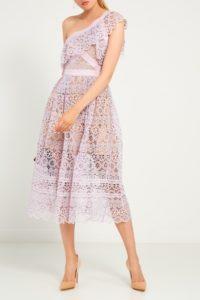 фиолетовое кружевное платье Self Portrait