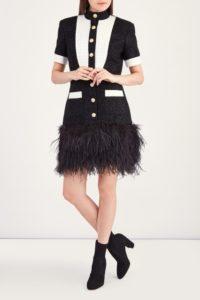 платье с перьями Balmain