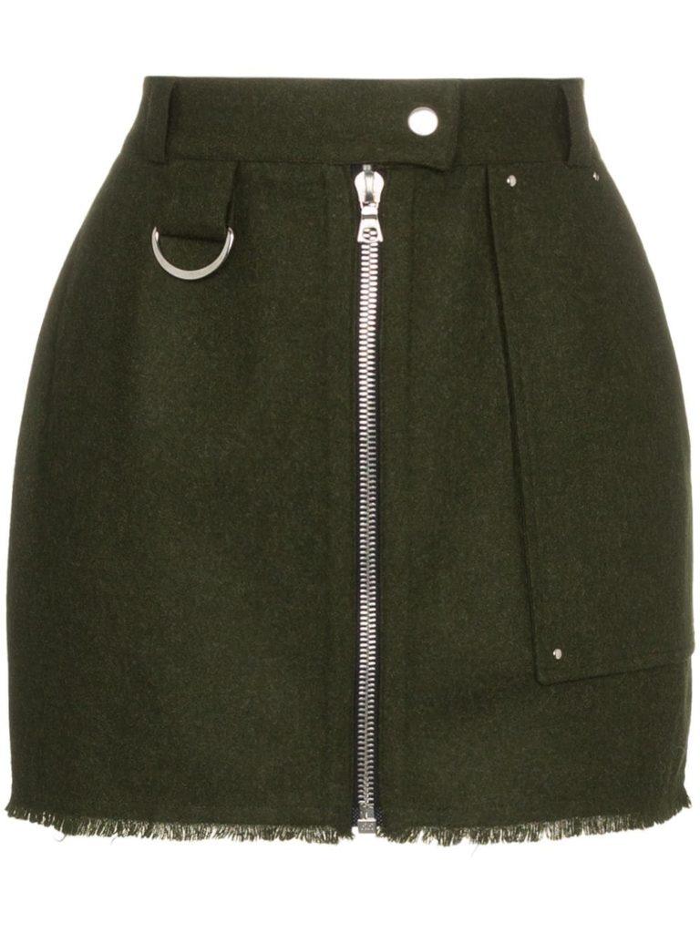 BEAU SOUCI облегающая юбка мини на молнии спереди