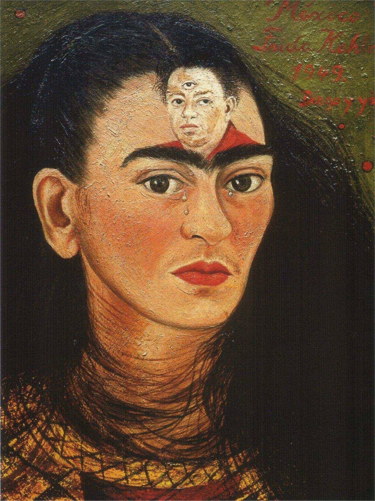 """""""Диего и Я"""" Фрида Кало, 1949"""