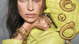 Ирина Шейк для Versace: кислотный – новый черный?
