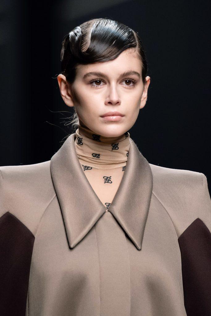 Кайя Гербер на показе Fendi Fall 2019