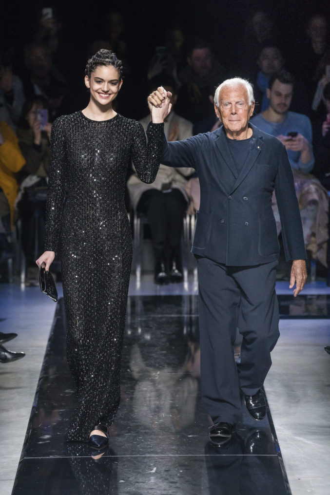 Rhapsody in Blue: Giorgio Armani Fall-Winter 2019