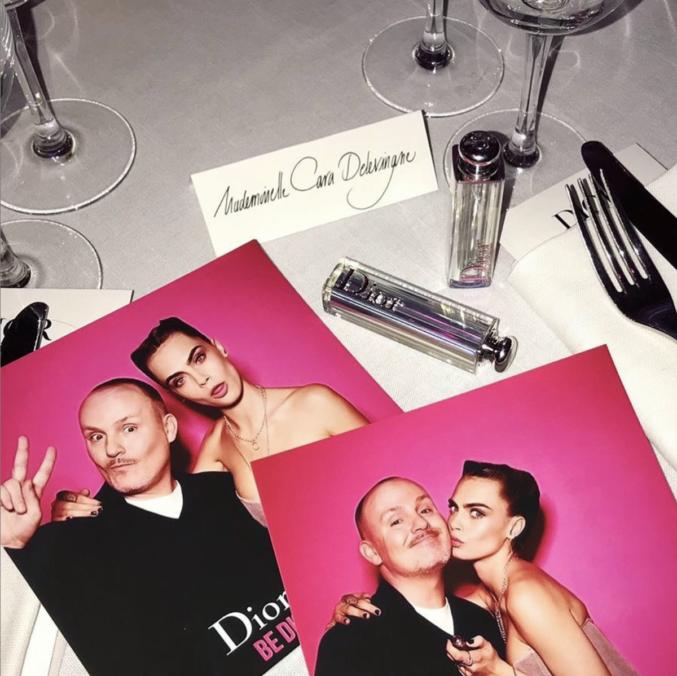 Закулисье со съёмок кампании Dior Addict Lipstick c Карой Делевинь