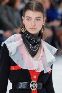 макияж на показе Chanel Fall 2019