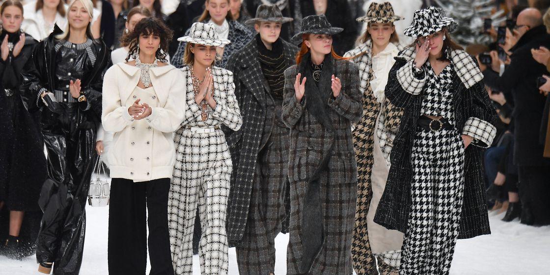 Модели на показе Chanel Fall 2019