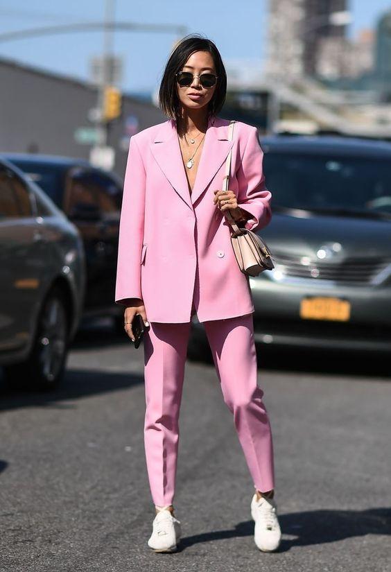 розовый костюм zara