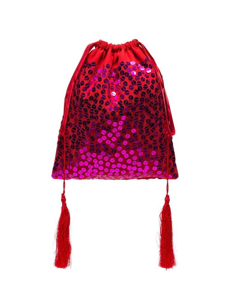 сумка-мешок с пайетками