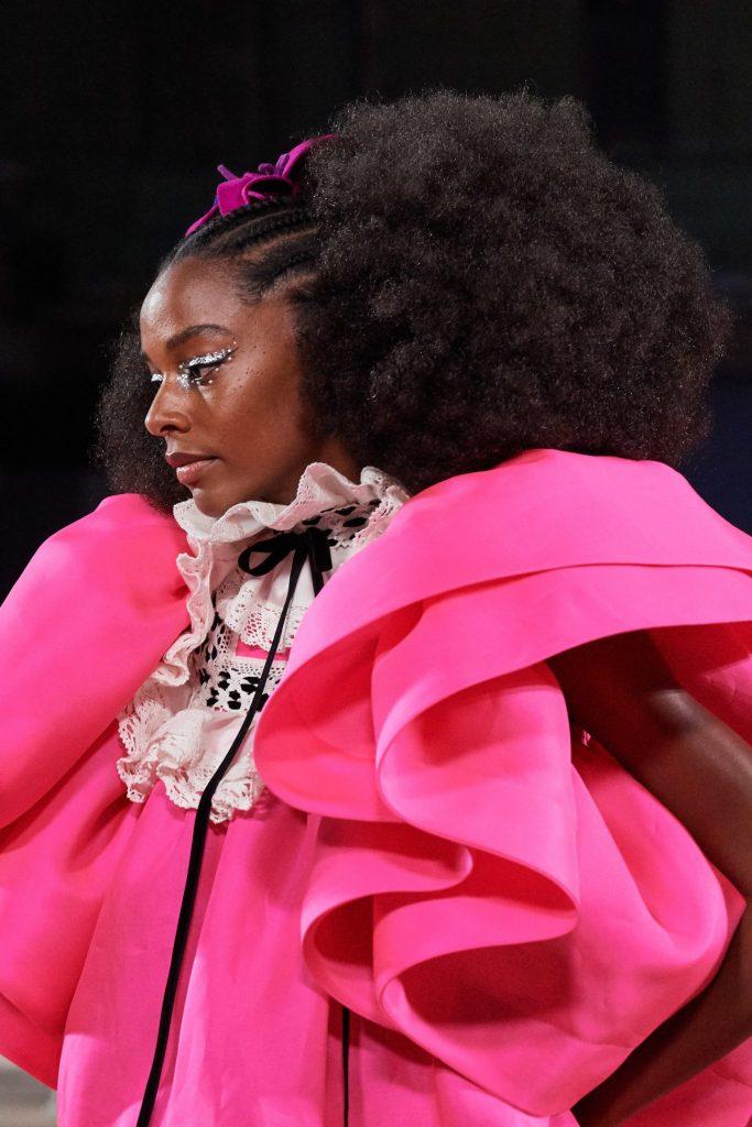 пышное розовое платье, показ Марка Джейкобса