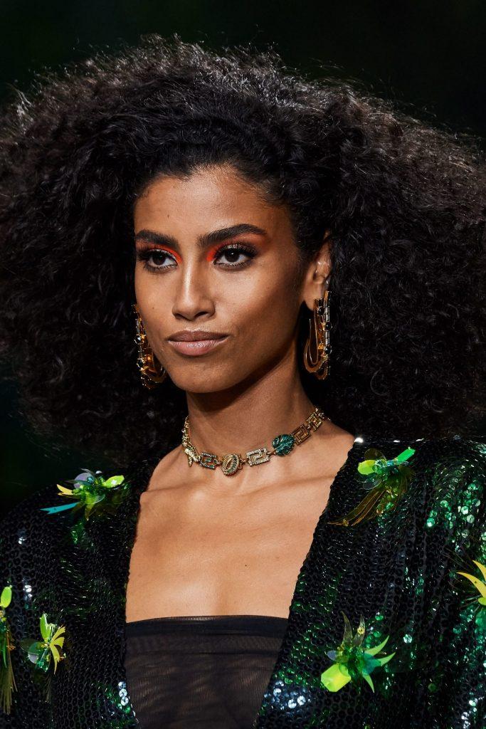 Versace, неделя моды, Имаан Хаммам