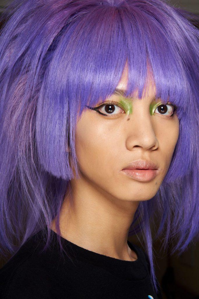 Фиолетовый парик, шоу Джереми Скотта