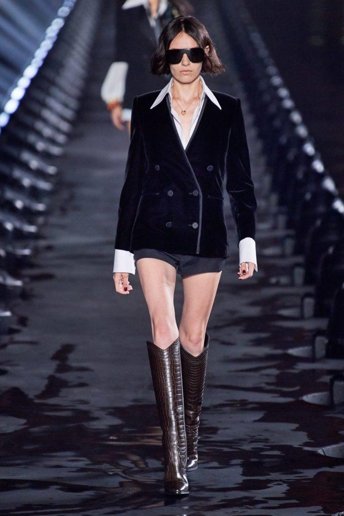 бархатный пиджак, Saint Laurent