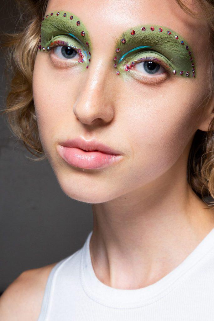 зеленые тени, показ Marc Jacobs
