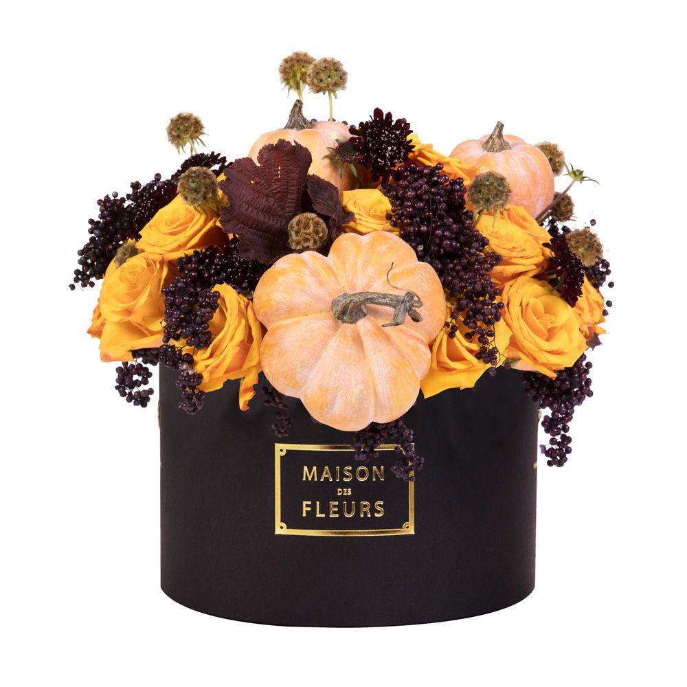 Maison des Fleurs, хэллоуин, цветы в коробке