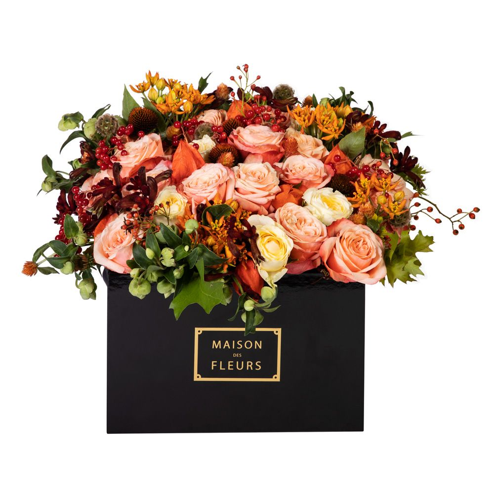 Maison des Fleurs, цветы в коробке
