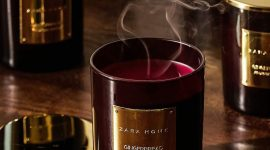 Пять ароматических свечей с ароматом Нового года