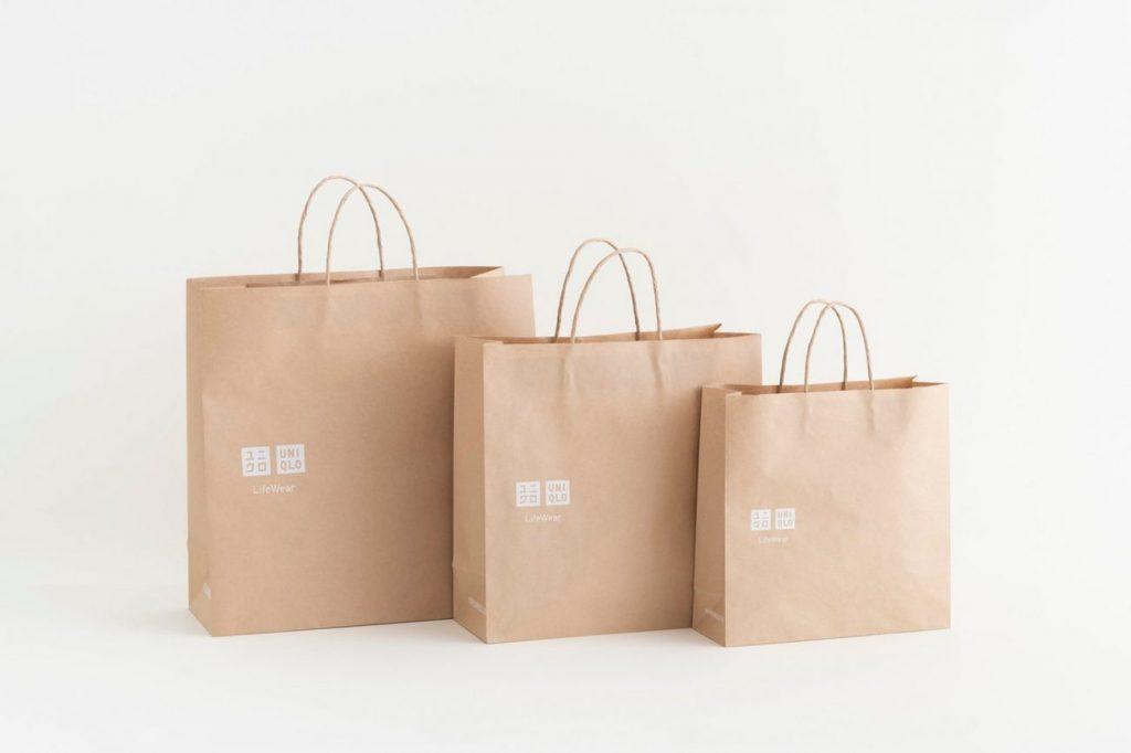 UNIQLO, бумажные пакеты