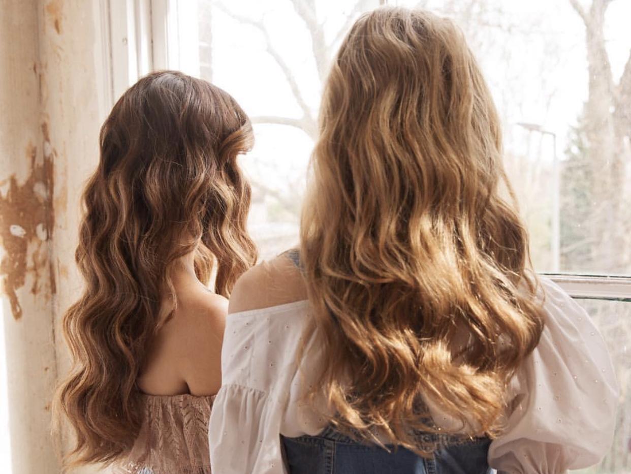 кудрявые волосы, волны