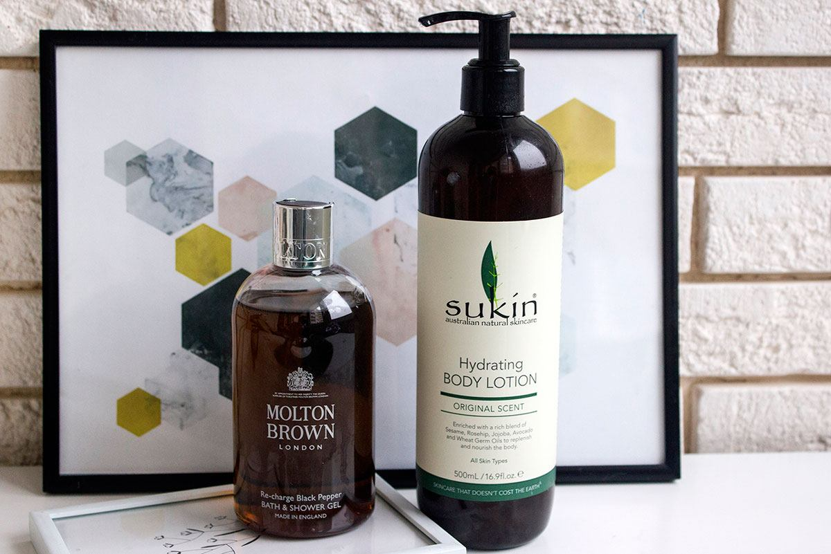 любимые средства для тела 2019 Sukin и Molton Brown