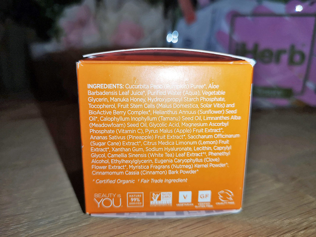 Прекрасная гликолевая маска Andalou Naturals Glycolic Mask Pumpkin Honey