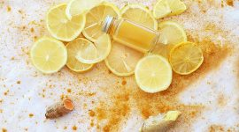 Напиток для иммунитета с куркумой