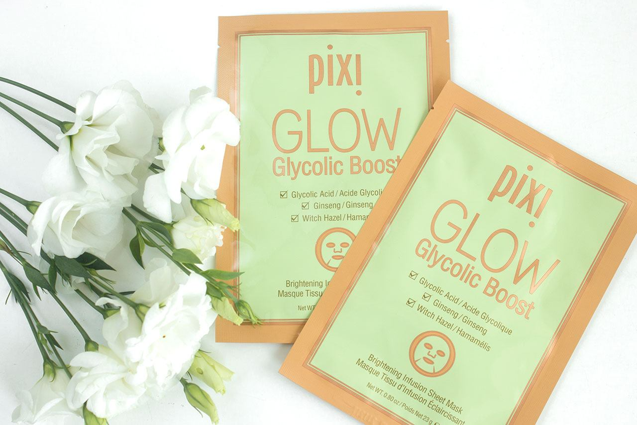 Pixi GLOW Glycolic Boost Brightening Infusion Sheet Mask