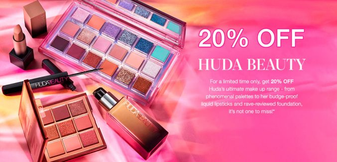 Скидка 20% на Huda Beauty и Wishful на Cult Beauty