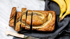 Веганский банановый хлеб с шоколадом