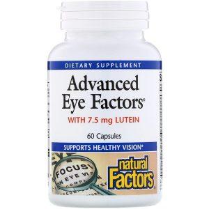 комплекс для поддержания здоровья глаз и зрения Natural Factors, Advanced Eye Factors