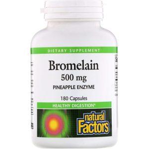 Бромелайн 500мг (ферменты из ананаса) для улучшения пищеварения