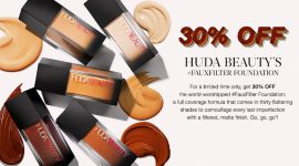 Скидка 30% на тональный Huda Beauty, бренд месяца и новинки Cult Beauty