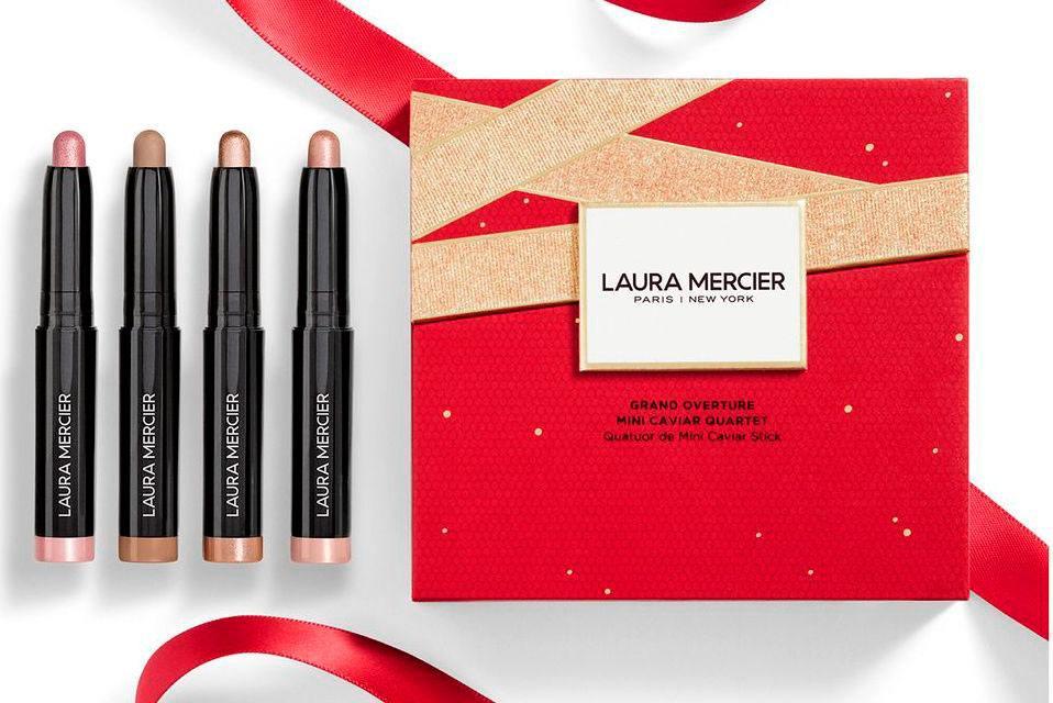 Laura Mercier Grand Overture Mini Caviar Quartet - Рождественская коллекция Laura Mercier 2020