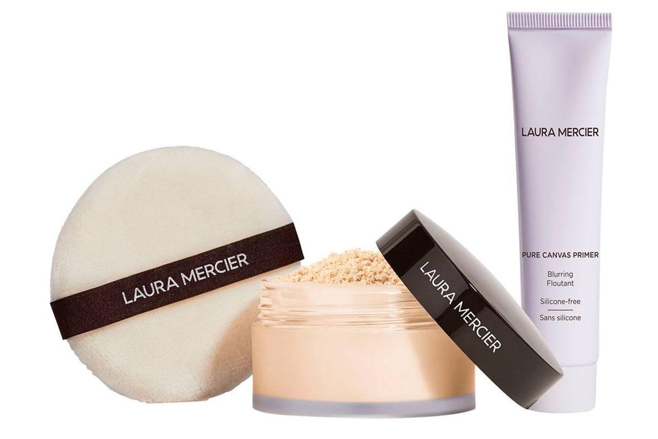 Laura Mercier Pure Canvas Primer Blurring & Translucent Loose Setting Powder Set