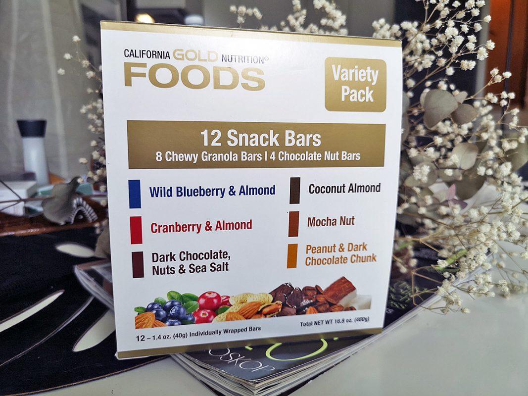 гранола-батончики California Gold Nutrition Snack Bars