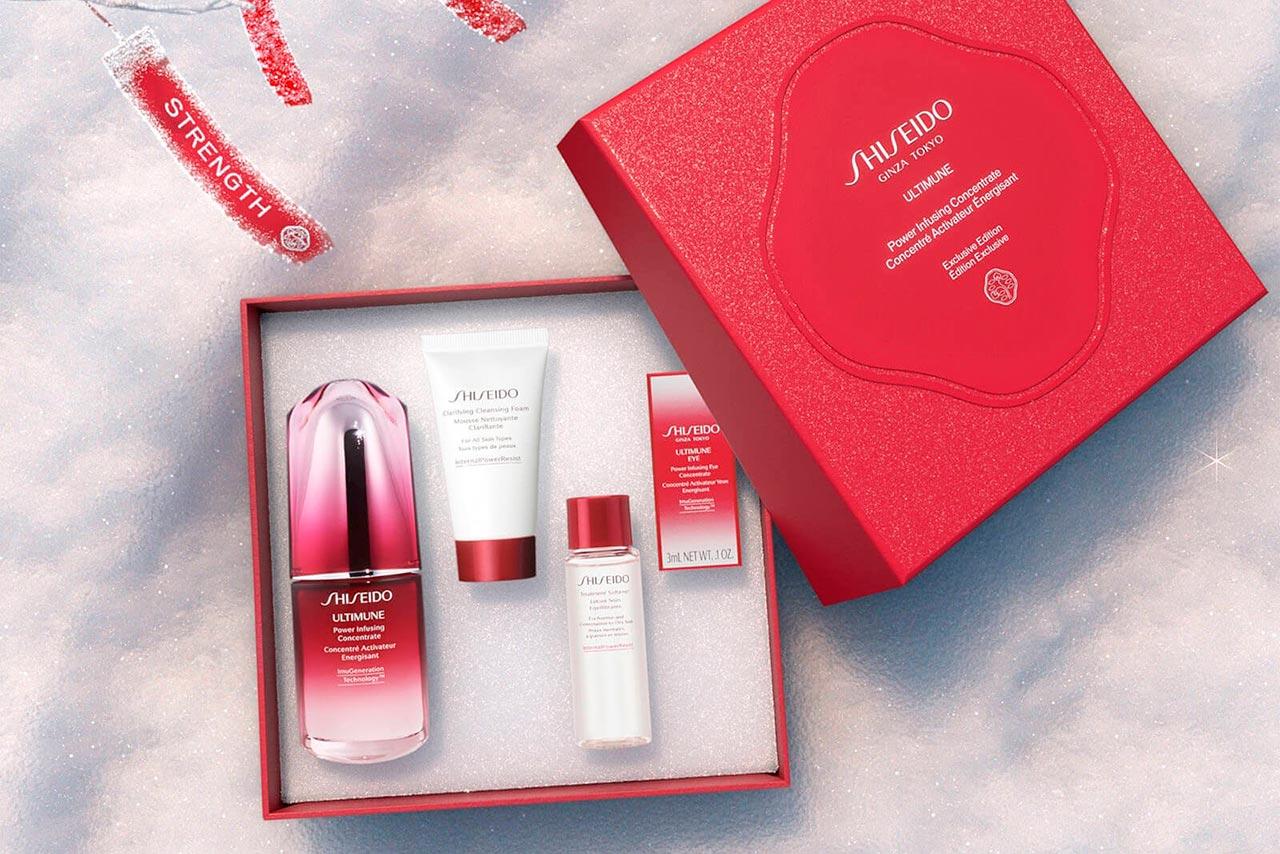 Рождественские наборы Shiseido 2020