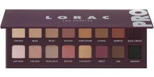 Lorac. Палитра теней для век Pro Palette 4 — палетка теней в коричнево-бордовых тонах.